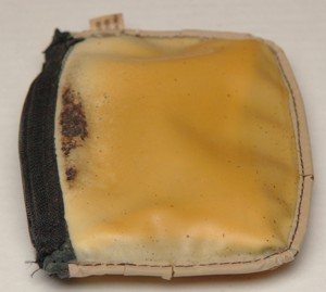 Pouch turned inside out
